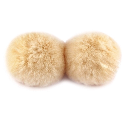 Изображение Помпон   натуральный мех  (персик)