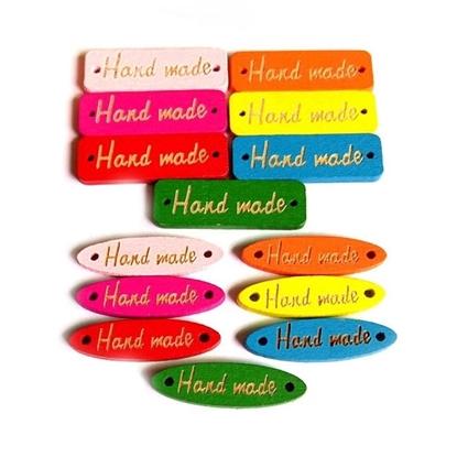 Изображение Бирки HAND MADE (цветные)