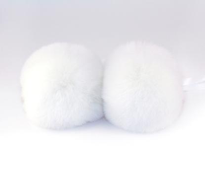 Изображение Помпон  натуральный мех  (белый)