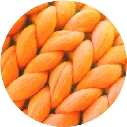 картинка купить пряжу для толстого пледа, цвет:  яркий оранжевый