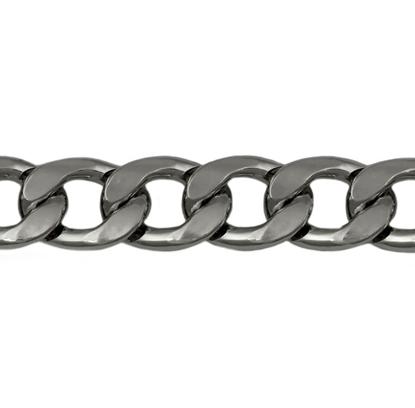 Изображение Цепь 13 мм , панцирное плетение (черный никель)