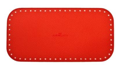 картинка дно из экокожи для сумки в наличии, купить в интернет-магазине донышко для вязаной сумки, цвет: красный