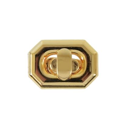Изображение Замок  для сумки  Грани  (золото)