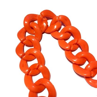 Изображение Цепь  пластик 25 мм (оранж)