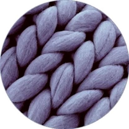 картинка пряжа для толстых пледов ручной вязки из мериноса купить в Москве, цвет: темно -синий джинсовый