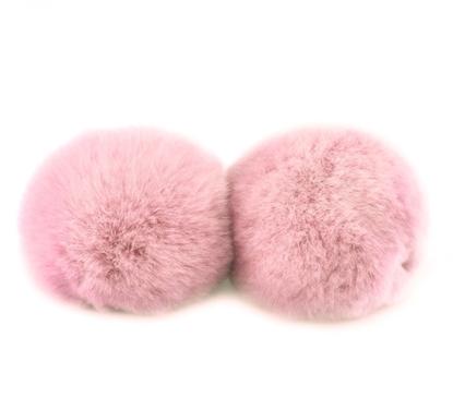 картинка  купить помпоны из кролика рекс  цвет светло-розовый