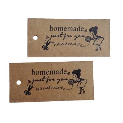 Изображение Бирка крафт Handmade вязание (подвесная)