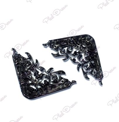 Изображение Уголок для сумки  ажур ( черный никель)