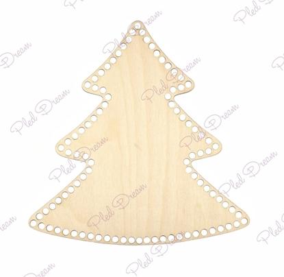 картинка дно для корзины из фанеры , новогодний декор,  донышко елка