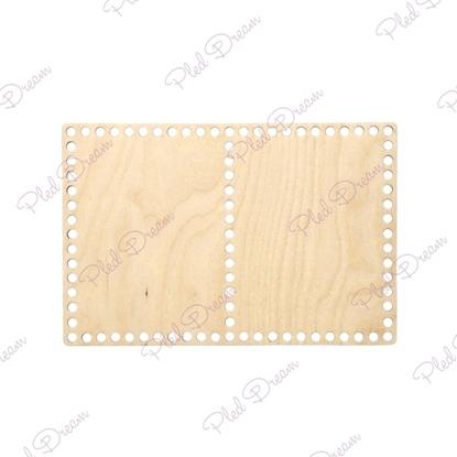 картинка донышко для корзинки прямоугольное на 2 секции, купить  донышко из фанеры