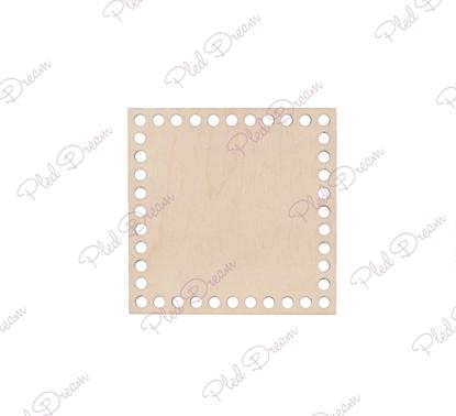 картинка дно для корзины квадратное, дно квадрат 10см для вязаной корзины