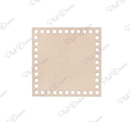 картинка деревянные донышки, донышко квадрат 15см, донышки для вязания