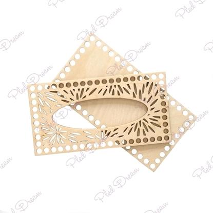 картинка основа из фанеры для вязаной салфетницы, ажурная салфетница