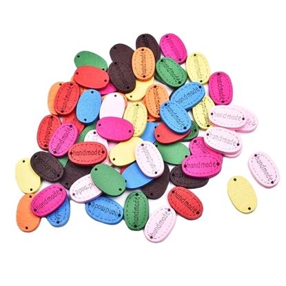 Изображение Бирки Handmade  овал (цветные)