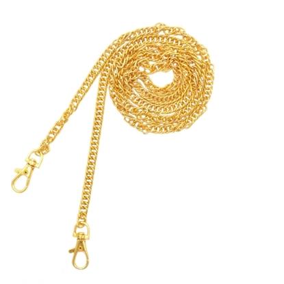 Изображение Цепь с карабинами для клатча (120см, золото)