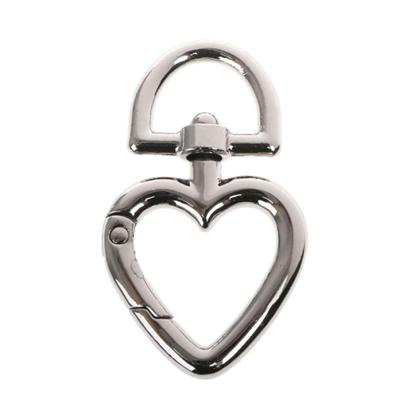 картинка карабин сердце металл серебро для сумочки
