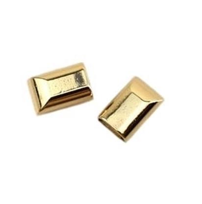 картинка наконечник для молнии и шнура металлический, цвет: золото