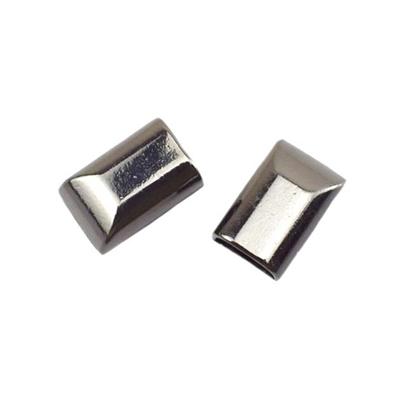 картинка наконечник декоративный для молнии, цвет: никель