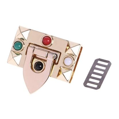 картинка  модный металлический замок для стильной сумочки, цвет: золото, размер: 45х25мм