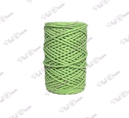 картинка хлопковый шнур, шнур  из хлопка Dream Cord  для макраме, цвет: олива, толщина 3мм,