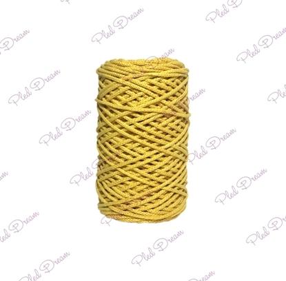 картинка хлопоквый шнур для вязания,  цвет: горчица, шнур из хлопка, Dream Cord