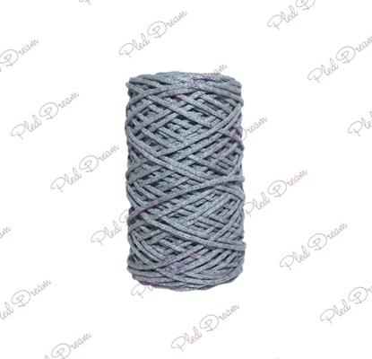 картинка шнур хлопковый Dream Cord, шнур их хлопка для вязания,  темно-серый 3 мм