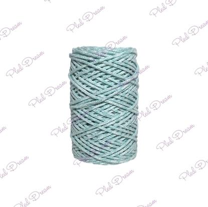 картинка шнур хлопковый, цвет: меланж тиффани, шнур из хлопка для вязания, шнур Dream Cord