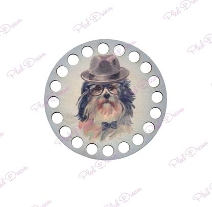 картинка донышко из фанеры для вязаных корзин, донышко круглое 10см