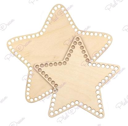 картинка донышки из фанеры , донышко звезда 18см для корзины из трикотажной пряжи