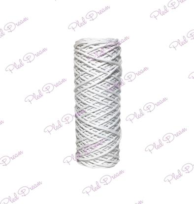 картинка шнур Dream Cord из хлопка,  купить шнур для макраме белый, 3 мм