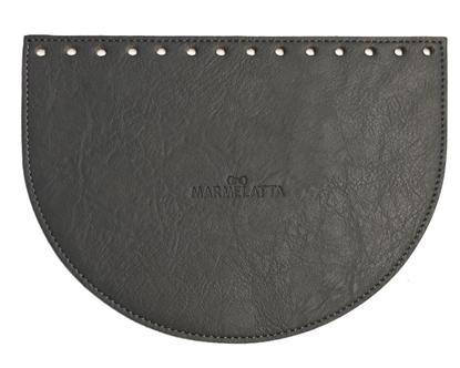 картинка крышка для вязаной сумки , цвет: серый, размер: 15х20см, купить кожаную фурнитуру для сумки
