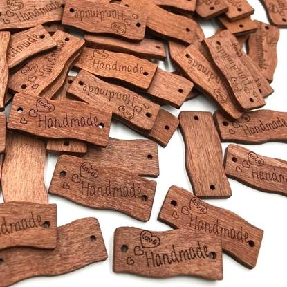 картинка  купить бирки деревянные Handmade