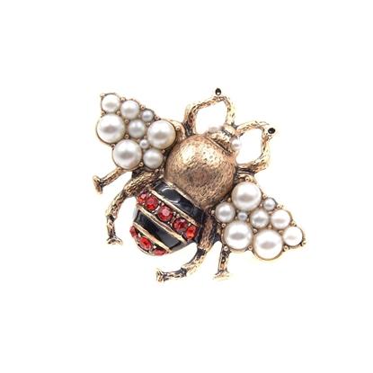 картинка модная брошь в подарок, брошь пчела гуччи размер 38х52мм