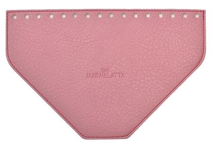 картинка  фурнитура из экокожи крышка  клапан трапеция для сумки и рюкзака цвет розовый
