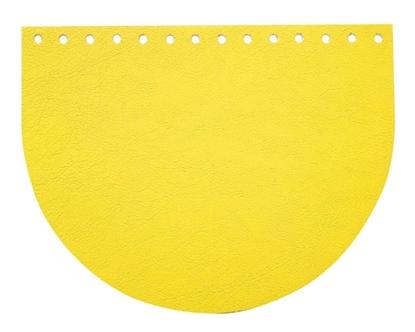 картинка кожаная фурнитура для сумок и рюкзаков, клапаны для сумок цвет лимон