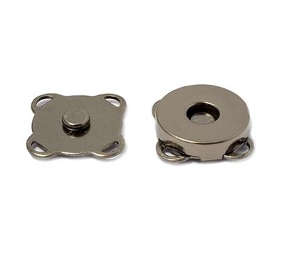 картинка кнопка магнитная пршивная 19мм, цвет: черный никель