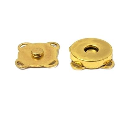 картинка кнопки магнитные пришивные, цвет: золото , размер : 19мм, купить в Москве