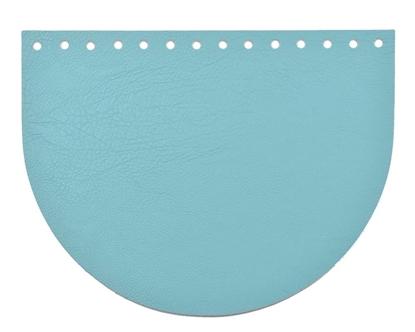 картинка крышка-клапан для сумки в форме овал, цвет:  мальдивы, купить  кожаную крышку для вязаной сумки