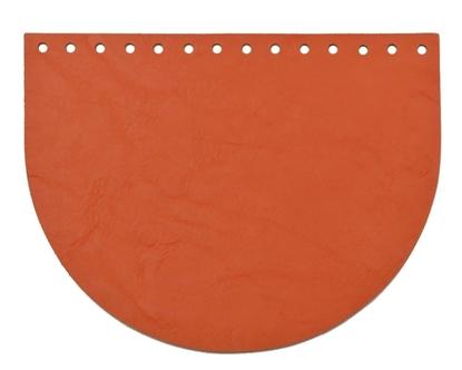 картинка кожаная фурнитура для вязаных сумок и рюкзаков из трикотажной пряжи, цвет: папайя