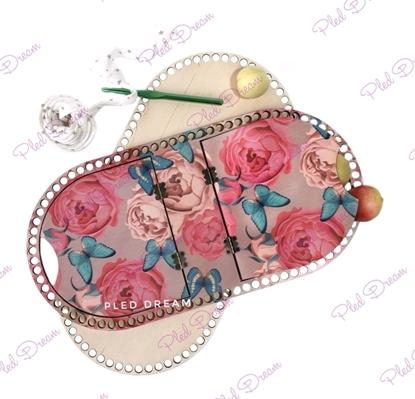 картинка  набор донышко и крышка для вязания корзины для пикника,  донышки из фанеры 6мм,  цветная заготовка из фанеры для вязания