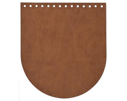 картинка крышка для вязаного рюкзака, цвет: фундук, фурнитура для сумок Marmelatta