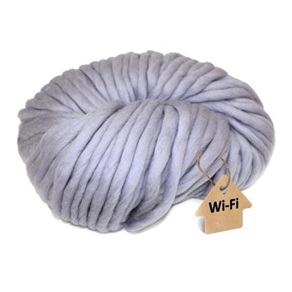 картинка пряжа wi-fi из  толстого мериноса для объемных шапок цвет: пепел