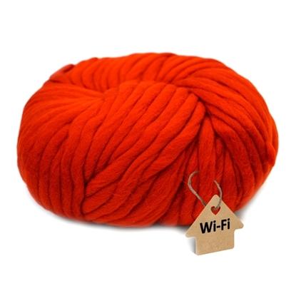 картинка купить в москве пряжа крупная WI-FI для кардигана средней вязки, цвет: красный,