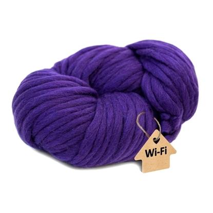 картинка  толстая шерсти для шапки и снуда, цвет: фиолетовый, купить пряжу  с доставкой в Москве