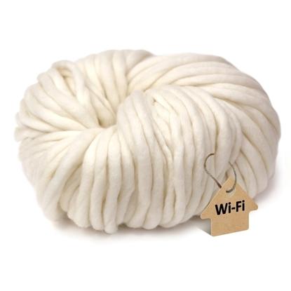 картинка связать шапку  крупными спицами из толстой пряжи, цвет: белый