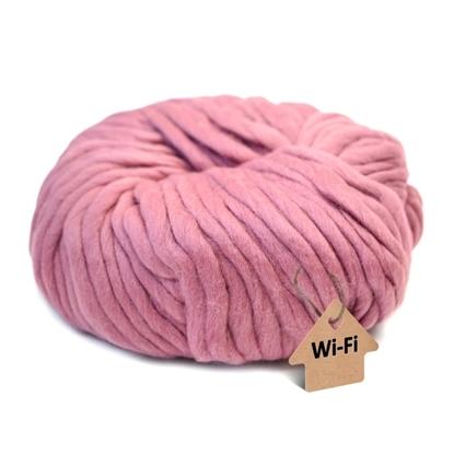 картинка крупная пряжа WI-FI для кардиганов и джемперов толстой вязки, купить пряжу для ручного вязания, цвет: пыльная роза
