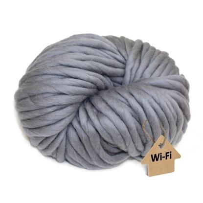 картинка снуд крупной вязкой, купить пряжу толстую для зимних акссесуаров, цвет: серый