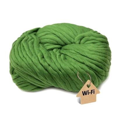 картинка толстая пряжа WI-FI для кардиганов и джемперов толстой вязки, цвет : зеленый