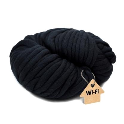 картинка пряжа из мериноса для шапок крупной вязки толстыми спицами, купить с доставкой, цвет: черный