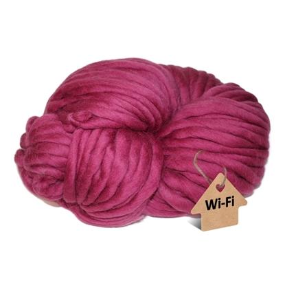 картинка толстая пряжа мериноса для вязания шапок и кардиганов, купить с доставкой , цвет: ягодный